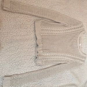 Creme knitted Aeropostale sweater